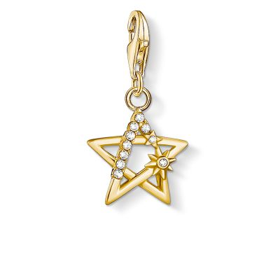 THOMAS SABO Dam Yellow Gold Star Charm Pendant Sterlingsilver 1851-414-14