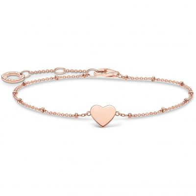 THOMAS SABO Dam Rose Gold Heart Bracelet Sterlingsilver A1991-415-40-L19V