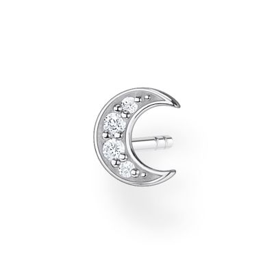 THOMAS SABO Dam Silver Single Moon Ear Stud Sterlingsilver H2133-051-14