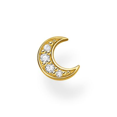 THOMAS SABO Dam Yello Gold Single Moon Ear Stud Sterlingsilver H2133-414-14