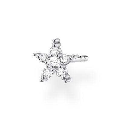 THOMAS SABO Dam Silver Zirconia Single Star Ear Stud Sterlingsilver H2134-051-14