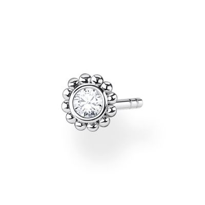THOMAS SABO Dam Silver Zirconia Single Flower Ear Stud Sterlingsilver H2137-051-14