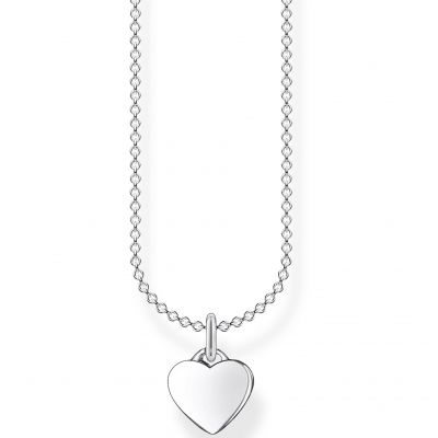 THOMAS SABO Dam Small Silver Heart Necklace 45cm Sterlingsilver KE2049-001-21-L45V