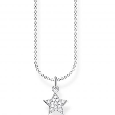 THOMAS SABO Dam Silver Star Necklace 45cm Sterlingsilver KE2052-051-14-L45V