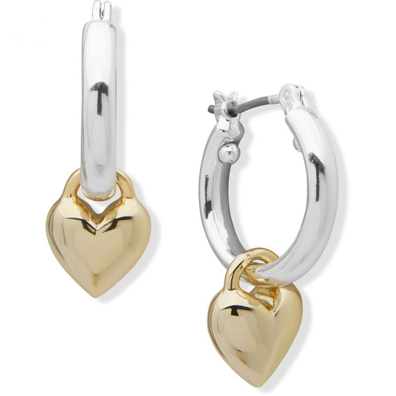 DKNY Jewellery Gold Coloured Heart Drop Earrings 60558332-887