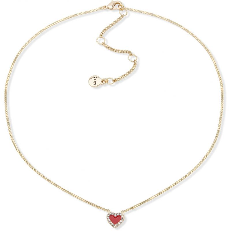 DKNY Jewellery Gold Coloured Pave Heart 16