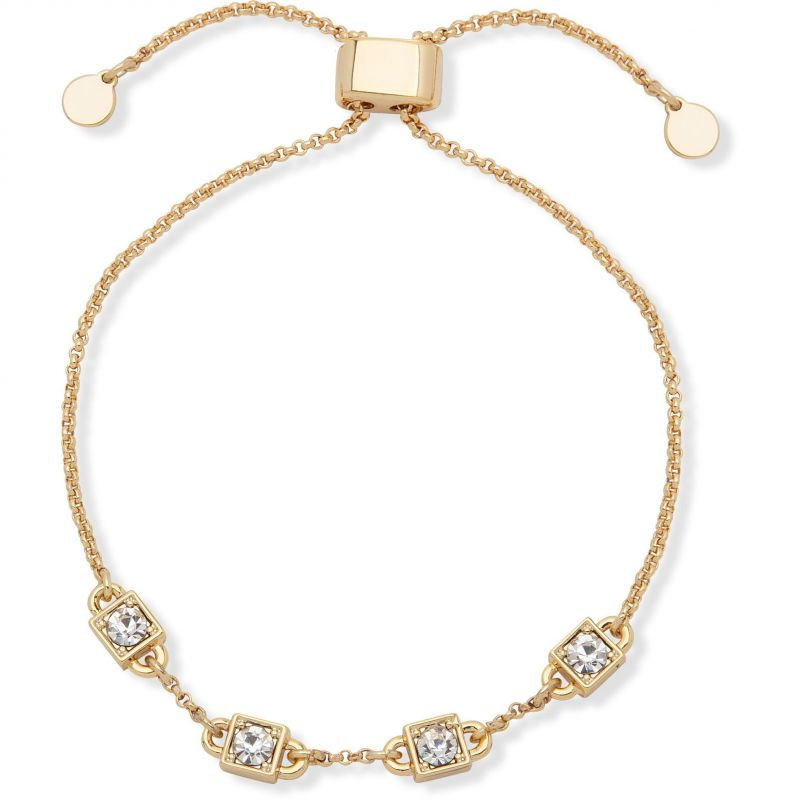 DKNY Jewellery Gold Coloured Cube Slider Bracelet 60558356-887