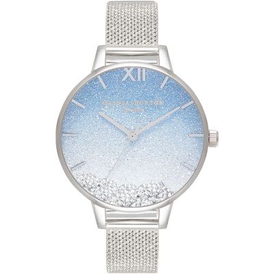 Olivia Burton Under The Sea Wishing Wave Demi Dial, Boucle Mesh & Silver Watch OB16US62