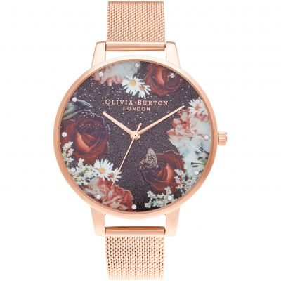 Olivia Burton Big Dial Rose Gold Mesh Damklocka Rose Gold OB16WG80