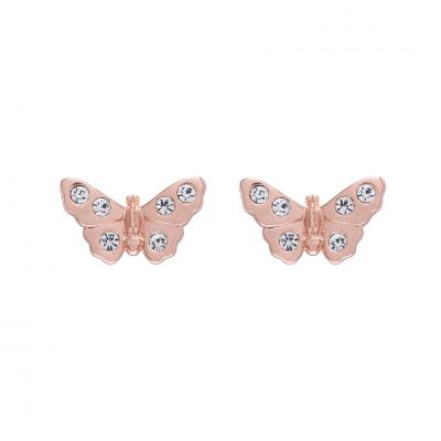 Biżuteria Olivia Burton Jewellery 3D Sparkle Butterfly Stud Earrings OBJMBE13