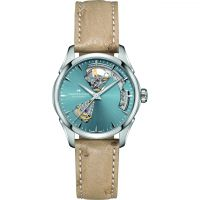 Hamilton Jazzmaster Ladies OH 36 Grey/ Blue - leather