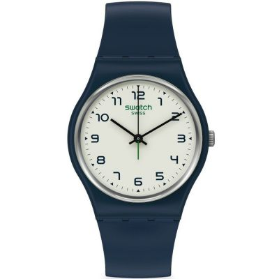 Swatch 1983 Sigan Unisexuhr in Marine SO28N101