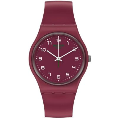 Swatch Wela Unisexklocka Röd SO28R103