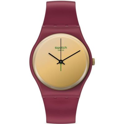 Swatch 1983 Goldenshijian Unisexuhr in Rot SO28R102