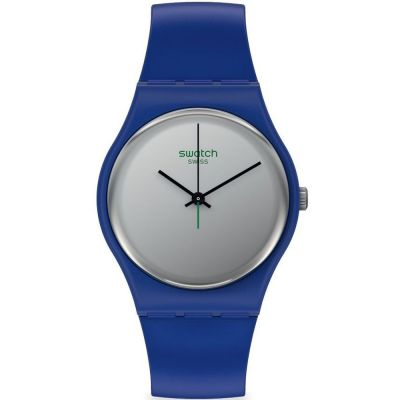 Swatch 1983 Silverwakati Unisexuhr in Blau SO28N100