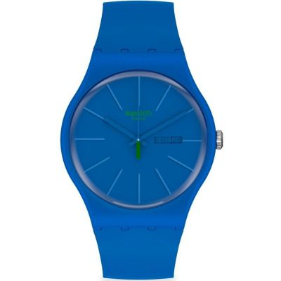 Swatch 1983 Beltempo Unisexuhr in Blau SO29N700