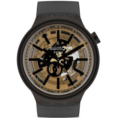 Swatch Dark Taste Unisex horloge Zwart SO27B115