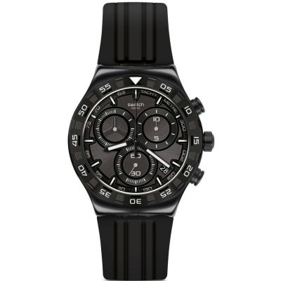 Swatch Irony Chrono Teckno Black Herrenchronograph in Schwarz YVB409