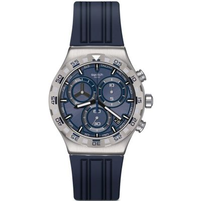 Swatch Irony Chrono Teckno Blue Herrenchronograph in Marine YVS473