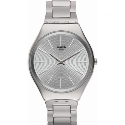 Swatch Skin Irony Greytralize Damenuhr in Silber SYXS129G