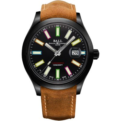 Ball Rainbow Herenhorloge Beige NM2028C-L28CJ-BK