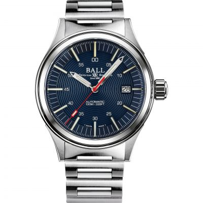 Ball NightBreaker Herenhorloge Zilver NM2188C-S13-BE
