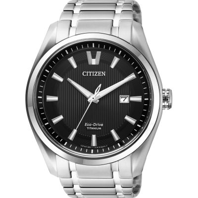Mens Citizen Super Titanium Eco-Drive Watch AW1240-57E