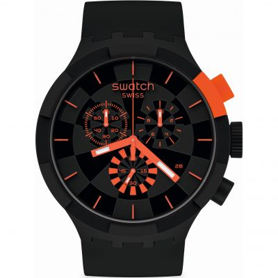 Swatch Big Bold Checkpoint Red Herrenchronograph in Schwarz SB02B402