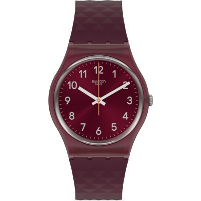 Swatch Originals Rednel Herrenuhr in Burgundy GR184