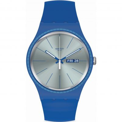 Swatch Essentials Blue Rails Herrenuhr in Blau SUON714