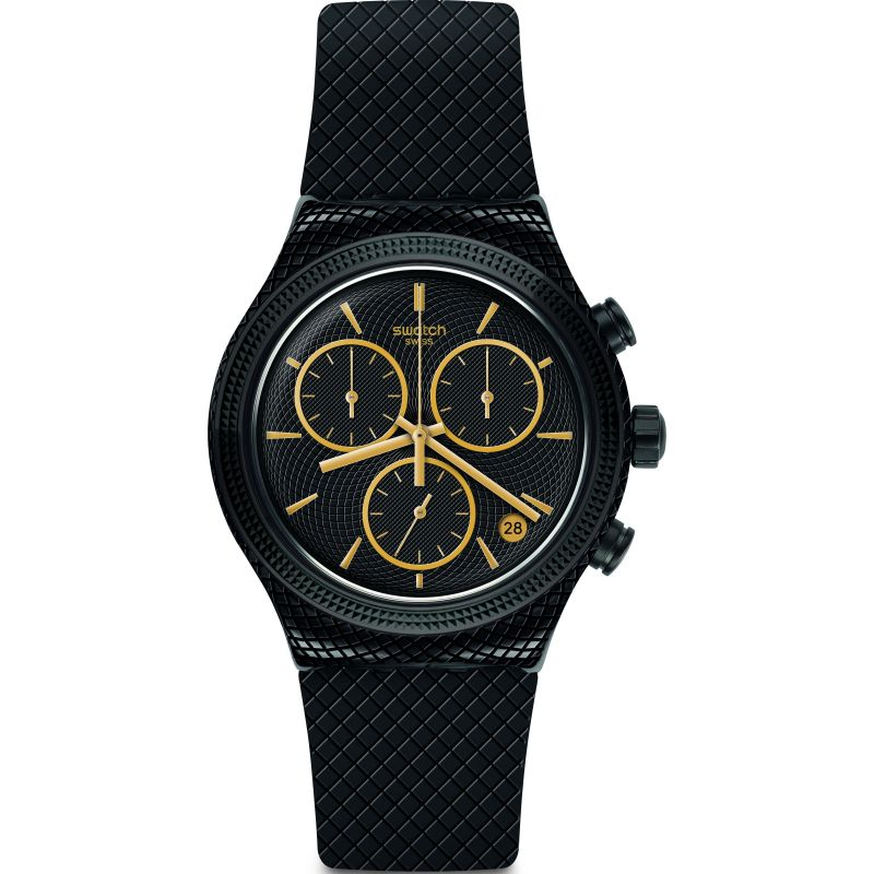 Unisex Swatch Crazy For Precious Chronograph Watch YVB408