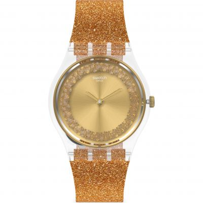 Swatch Originals Sparklingot Damenuhr in Orange GE285