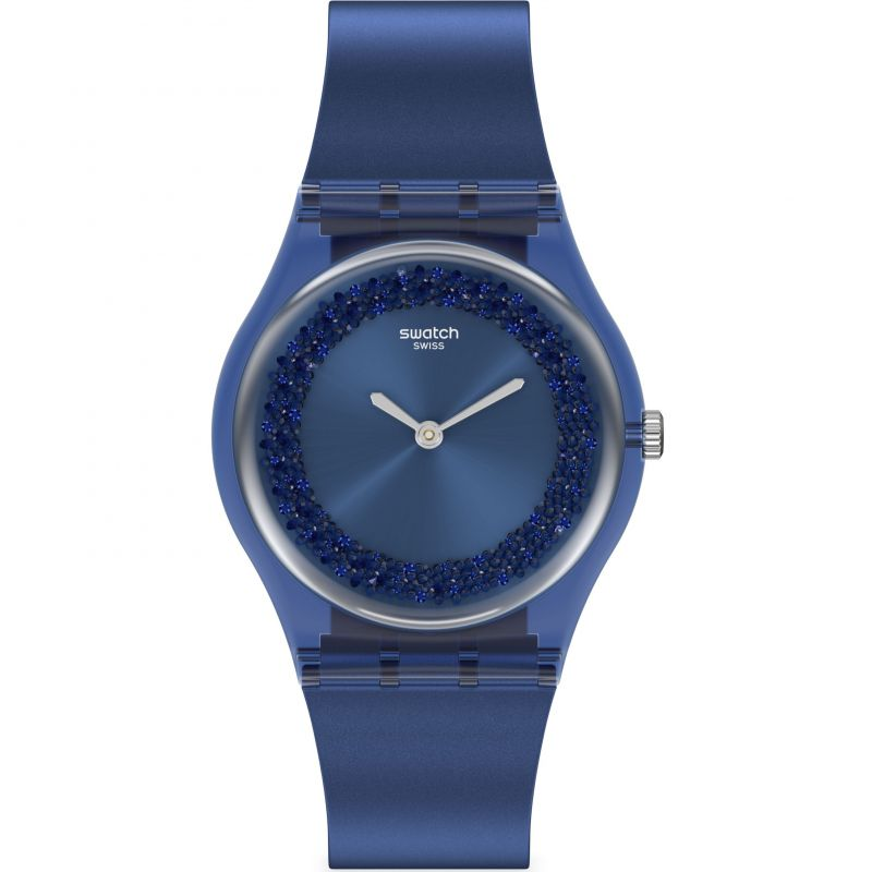 Ladies Swatch Sideral Blue Watch GN269