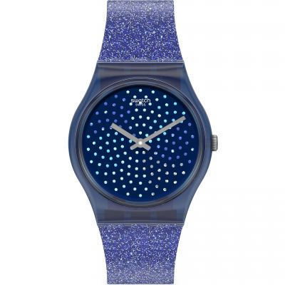 Swatch Originals Blumino Damenuhr in Lila GN270