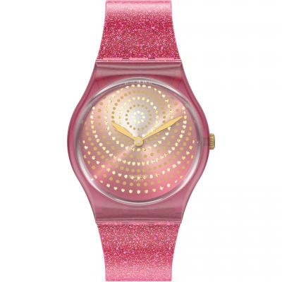 Swatch Chrysanthemum Dameshorloge Roze GP169