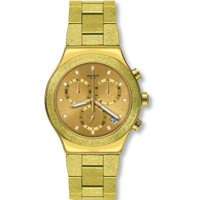 Swatch Irony Chrono Irony Goldshiny Herrenchronograph in Gold YVG407G