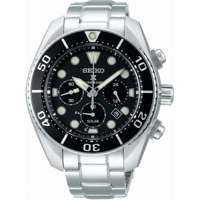 Mens Seiko Chronograph Solar Powered Watch SSC757J1