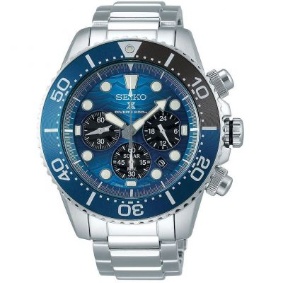 Mens Seiko Chronograph Solar Powered Watch SSC741P1