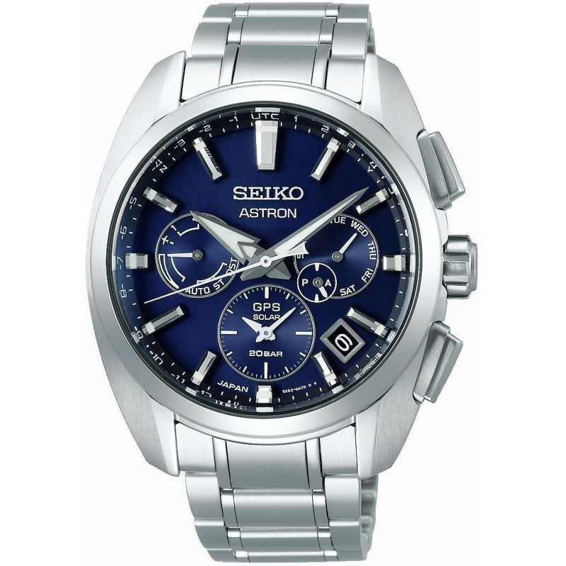 Mens Seiko Chronograph Solar Powered Watch SSH065J1