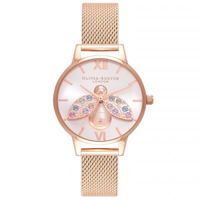 Olivia Burton Rainbow Bee Damklocka Rose Gold OB16RB28