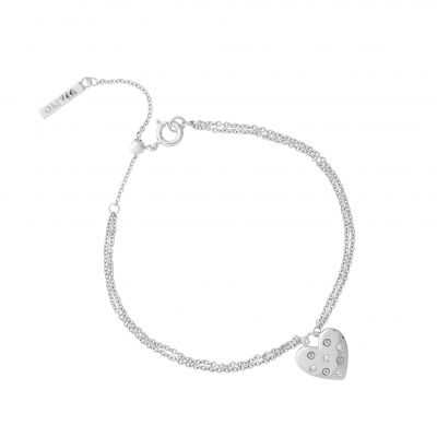 Olivia Burton Dam Screw Heart Stud Bracelet Plated Stainless Steel OBJSAB16
