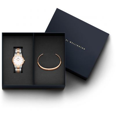 Daniel Wellington Link Lumine Dameshorloge Two-Tone Rose DW00500897