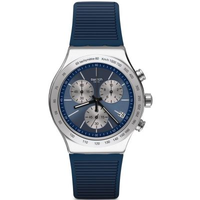Swatch Lost In The Sea Herenchronograaf Blauw YVS475