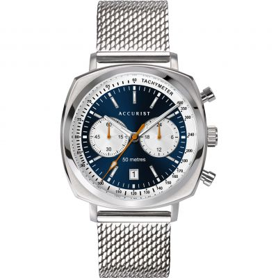 Accurist Retro Racer Herrenchronograph in Silber 7366