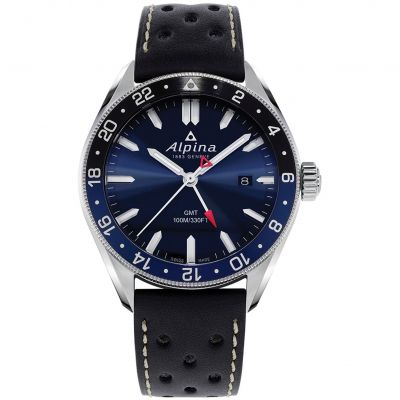 Mens Alpina Alpiner GMT Qtz Watch AL-247NB4E6