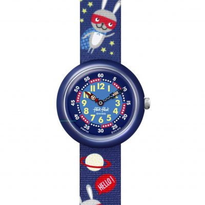 Flik Flak Imagination Super Hopper Kinderuhr in Blau FBNP166