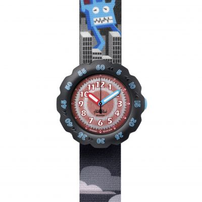 Flik Flak Imagination T-Rocks Kinderuhr in Schwarz FPSP047