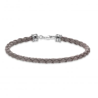 THOMAS SABO Dam Braided Nappa Leather Bracelet Sterlingsilver A2011-682-5-L19