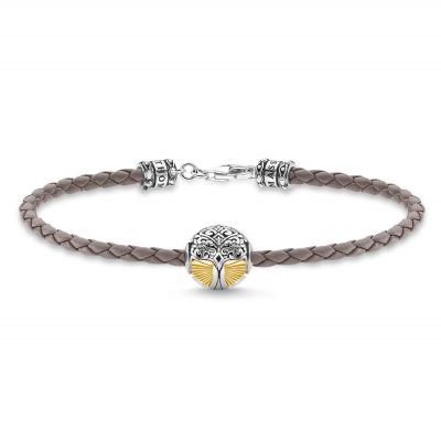Joyería para Mujer THOMAS SABO Jewellery Tree of Love Braided Leather Bracelet A2013-682-5-L19