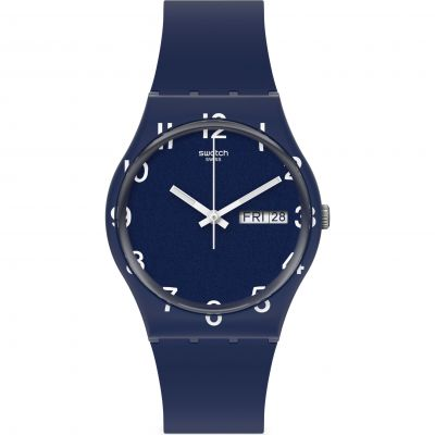 Swatch Original Gent Over Blue Unisexuhr in Blau GN726